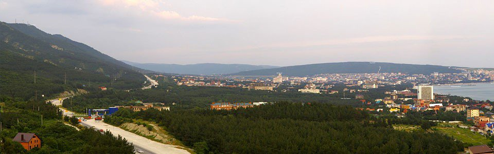 Панорама Геленджика / Вид с объездной