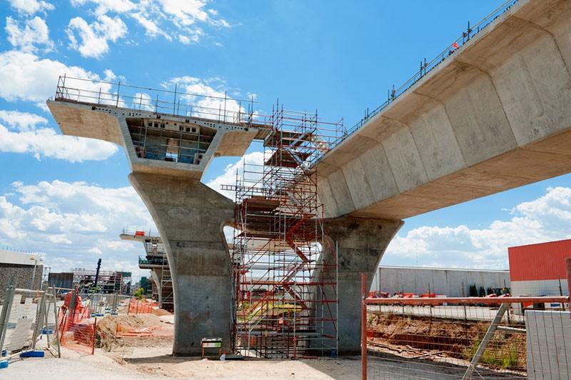 Строительство трехуровневой развязки в Джубге