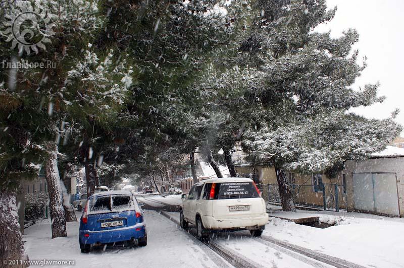 Геленджик завалило снегом фото 2