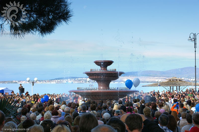 Новый фонтан в Геленджике