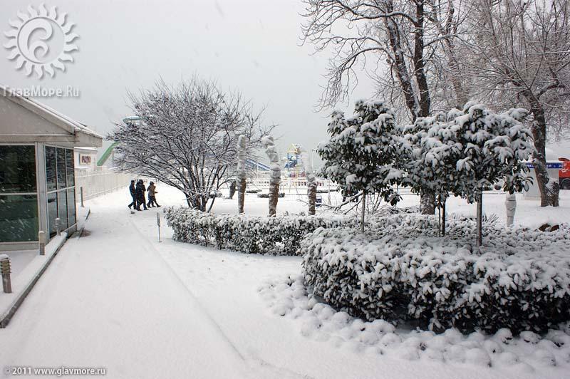 Геленджик завалило снегом фото 6