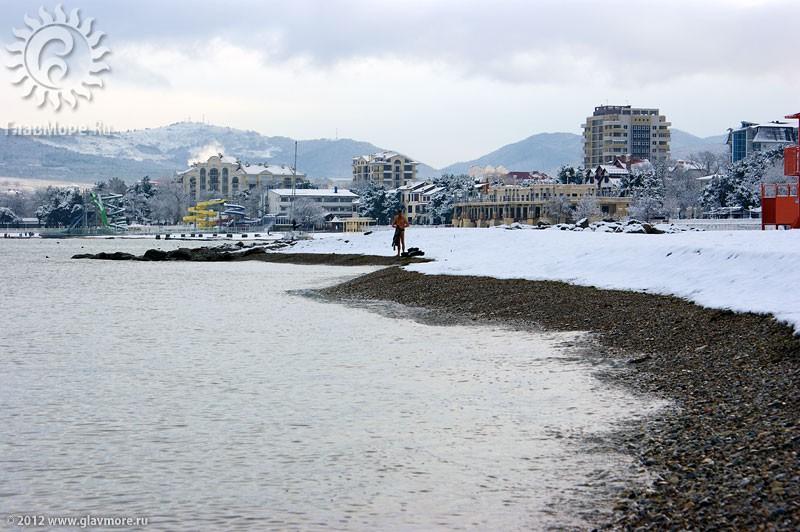 В Геленджике выпал снег фото 21
