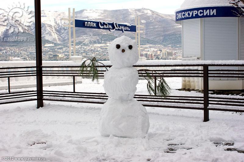 В Геленджике выпал снег фото 26