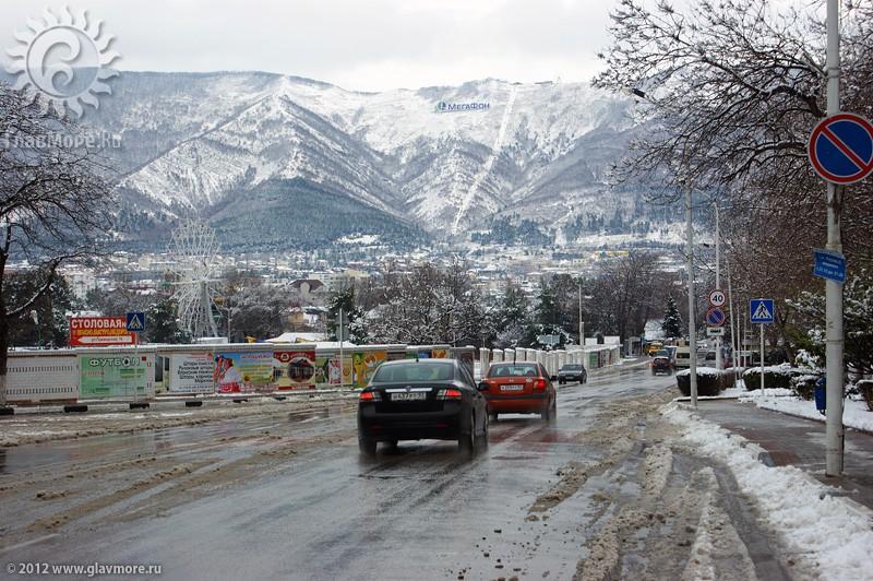 В Геленджике выпал снег фото 39