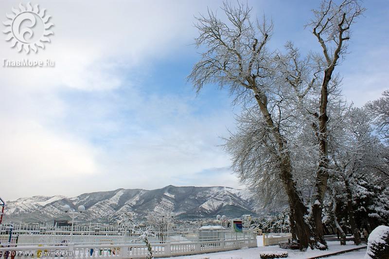 В Геленджике выпал снег фото 3
