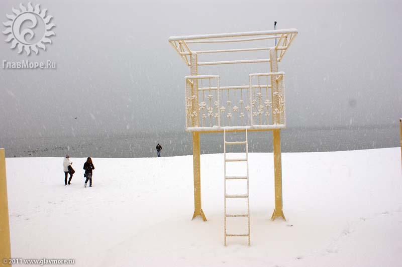 Геленджик завалило снегом фото 21