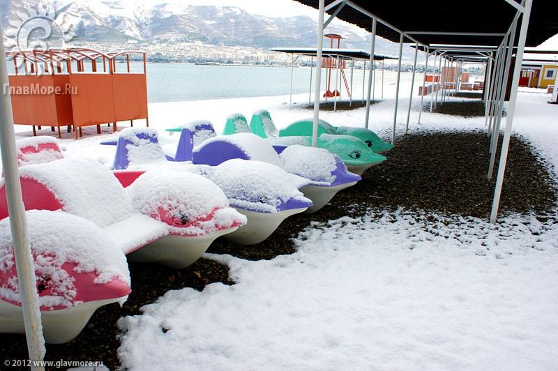 В Геленджике выпал снег фото 22