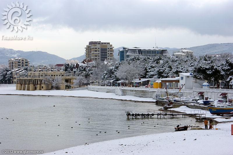 В Геленджике выпал снег фото 17