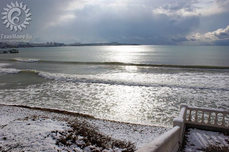 В Геленджике выпал снег фото 50