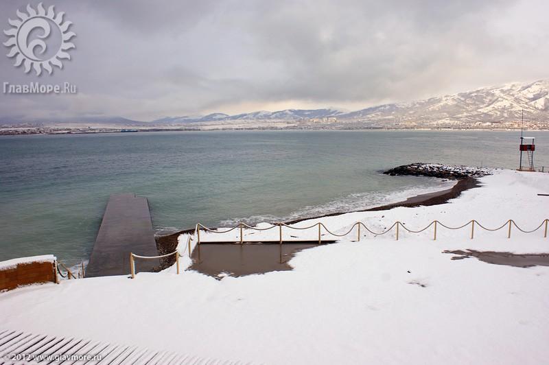 В Геленджике выпал снег фото 29