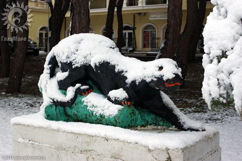 В Геленджике выпал снег фото 25