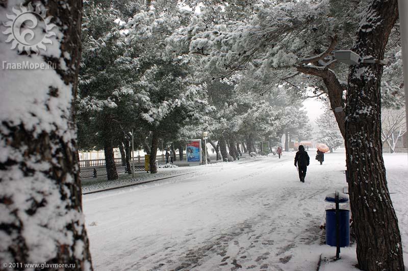 Геленджик завалило снегом фото 27