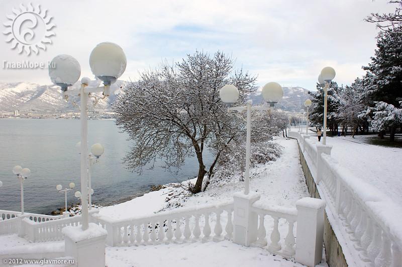 В Геленджике выпал снег фото 27