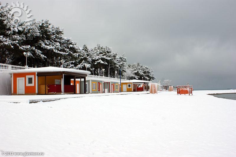 В Геленджике выпал снег фото 19