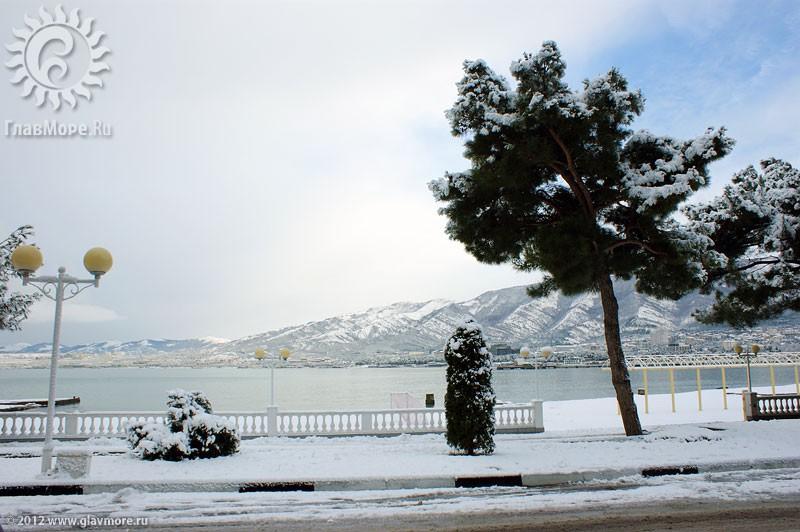 В Геленджике выпал снег фото 6