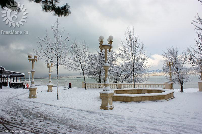 В Геленджике выпал снег фото 13