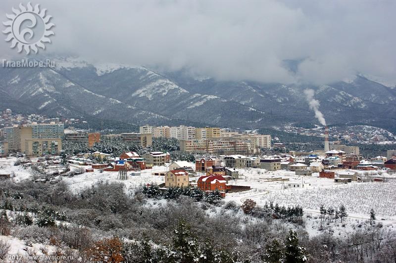 В Геленджике выпал снег фото 42