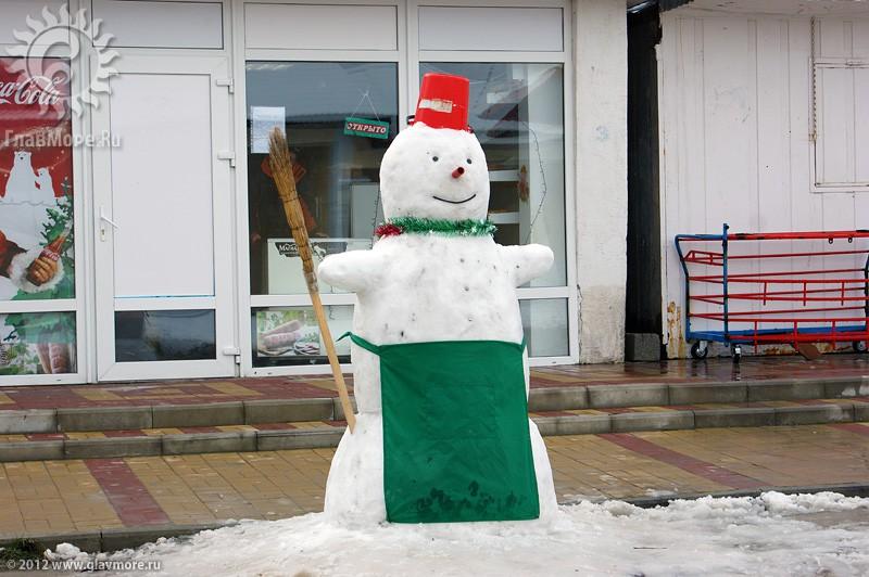 В Геленджике выпал снег фото 48