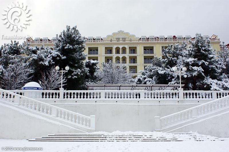 В Геленджике выпал снег фото 20