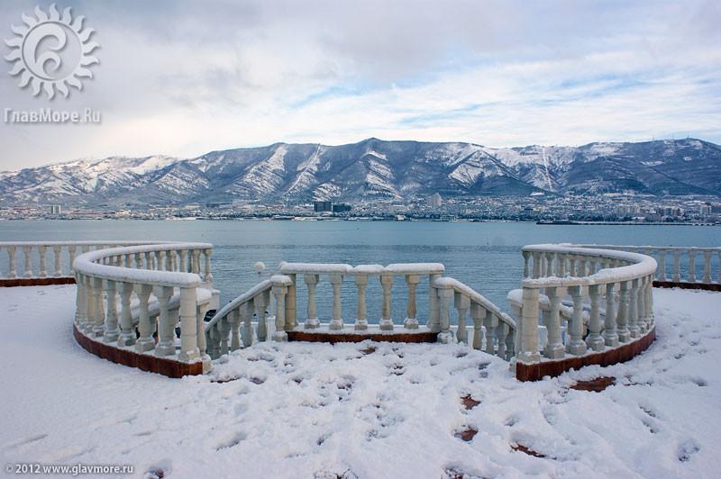 В Геленджике выпал снег фото 15