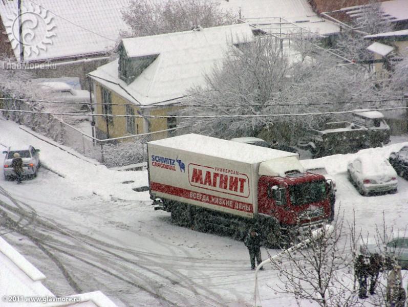 Геленджик завалило снегом фото 44