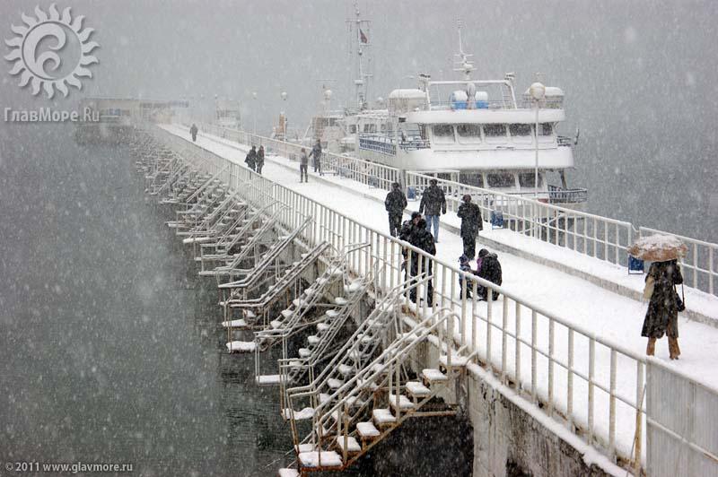 Геленджик завалило снегом фото 34