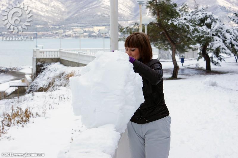 В Геленджике выпал снег фото 31