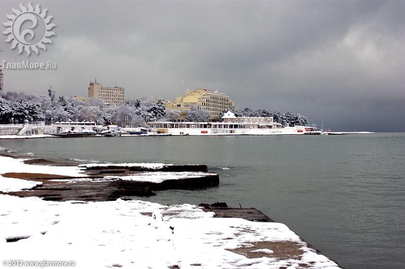 В Геленджике выпал снег фото 12